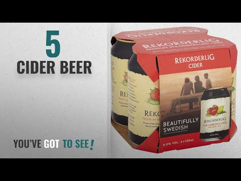 Top 10 Cider Beer [2018]: Rekorderlig Premium Strawberry-Lime Cider, 4 X 330 Ml