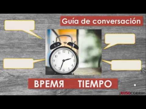 """guía-de-conversación-ruso-español-""""Время---tiempo"""""""