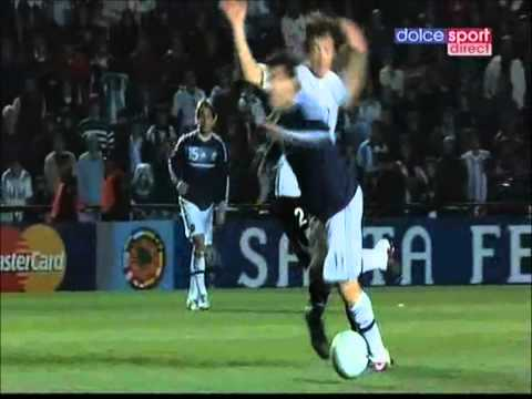 "Carlos ""monkey"" Tevez dives vs Uruguay"