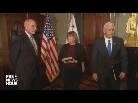 Watch John Kelly Be Sworn In As Secretary Of Homeland Security