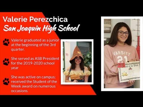 San Joaquin High School Pre-Graduation Virtual Recognition