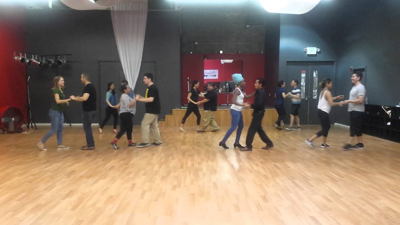 Beginner Salsa Lessons at Salsa N' Seattle Dance Studio with Victor and Julia