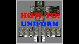 How to make a Uniform on roblox (professional looking)