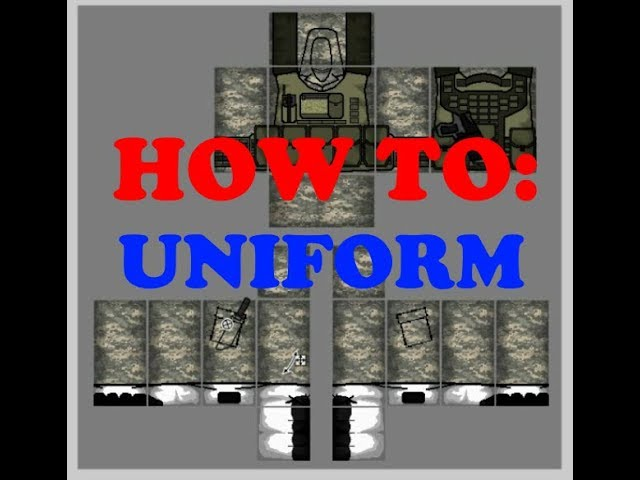 Roblox Free Military Clothes How To Make A Uniform On Roblox Professional Looking Youtube