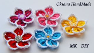 Простые цветы крючком. Мастер класс. Simple crochet flowers