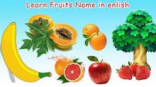 Learn names of Fruits in English Learn English for Kids|Apple, Orange, Banana | #Kids Cartoon Diary