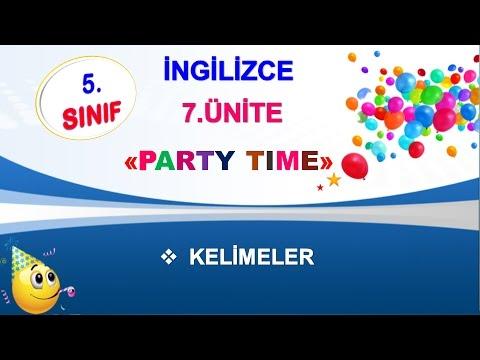 5. Sınıf İngilizce 7. Ünite Party Time Kelimeleri