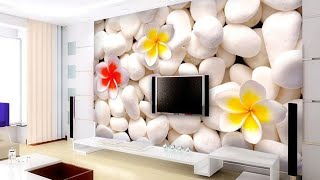 50 3D wallpaper for living room walls - new ideas 2020