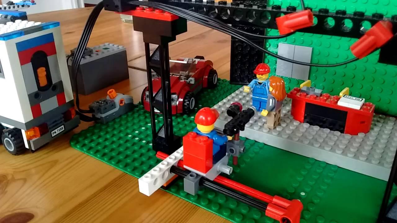 Petit plateau de tournage et camion de police lego youtube - Lego camion de police ...