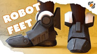 How to Make Robot Feet from EVA Foam - Destiny Sweeper Bot Build