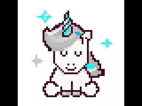 Pixel Art Licorne Youtube