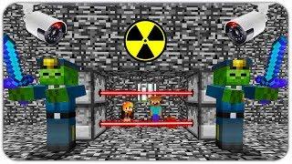 ПОБЕГ из ЗОМБИ ТЮРЬМЫ в МАЙНКРАФТ! КАК ВЫЖИТЬ НУБУ и ДЕВУШКЕ против 100.000 ЗОМБИ В Minecraft? #3