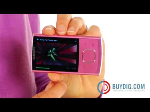 BuyDig Samsung YP R0 Pink 8GB Flash MP3 Player