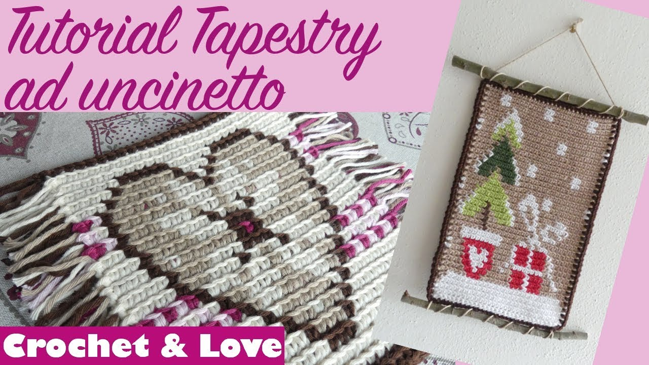 Tappeto All'uncinetto Schemi Tutorial Tapestry Crochet A Righe In 2 Varianti