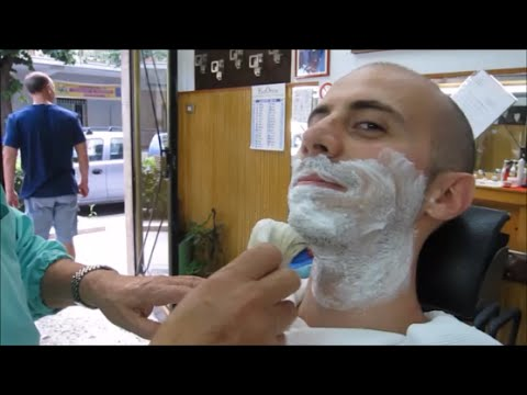 Barber shop: professional and relaxing shave - ASMR video - YouTube
