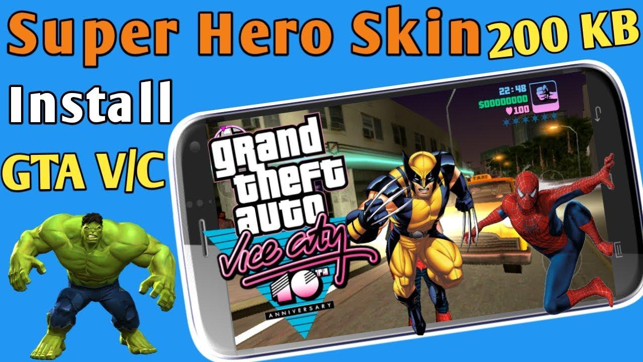 gta vice city super hero skin pack free download