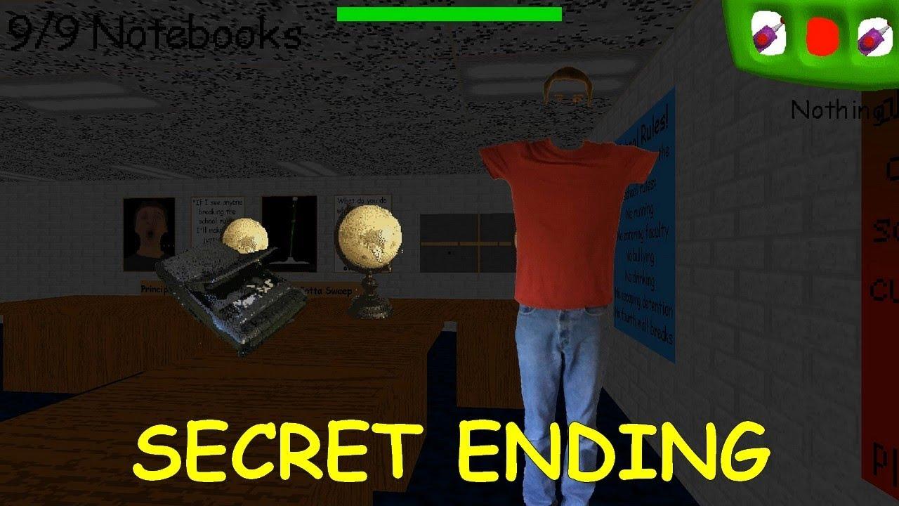 Code For Baldi's Basics In Roblox Secret Ending Found Baldi S Basics Birthday Bash Youtube