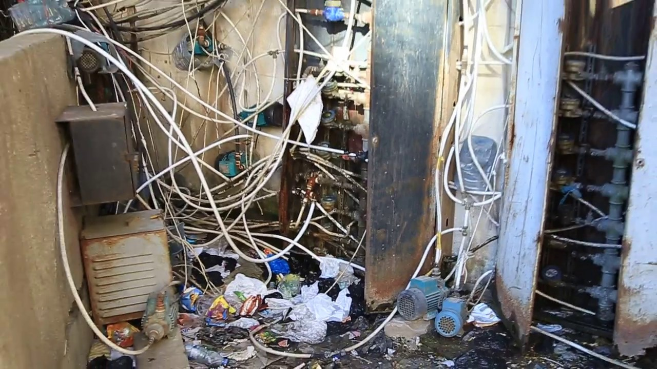 crazy wiring and plumbing in tripoli lebanon [ 1280 x 720 Pixel ]