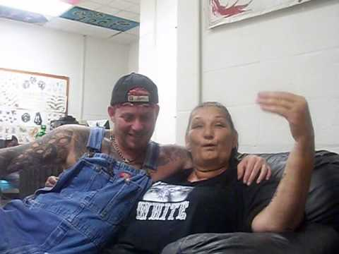 Steve bragg and mamie white at steve 39 s tattoo matewan wv for Steve s tattoo