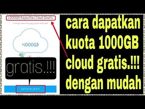 trik untuk mendapatkan kuota gratis 1000GB cloud (penyimpanan di awan)