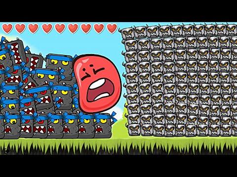 Новый Красный Шар - мод на 1000 квадратов на уровне ! Игра Red Ball 4 Mod 100 Square шарик от Спуди