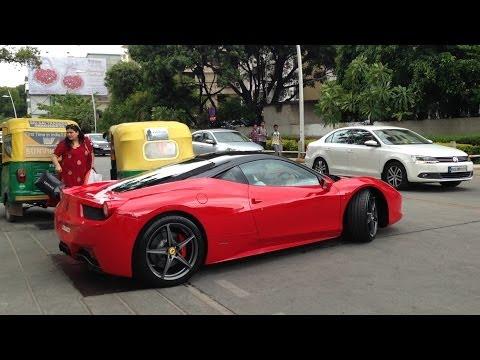 Ferraris in Bangalore (2014) ! LOUD SOUNDS.