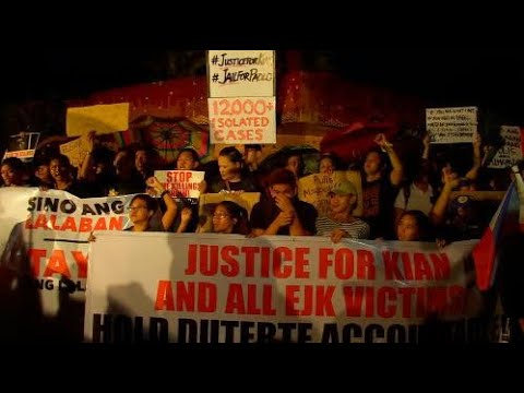 Protesters gather on Edsa to condemn bloody war on drugs
