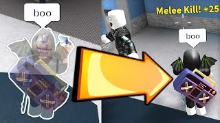 GHOST PERK TRAINA IN ROBLOX MM2!!