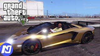 GTA 5 - Cùng siêu xe Lamborghini Aventador LP750SV đua xe ở sân bay | ND Gaming