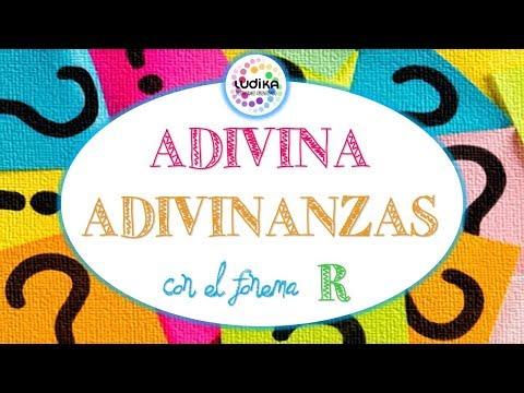 ADIVINANZA ADIVINANZAS con el fonema R