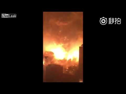 Massive Explosion In Tianjin, China! Best Angle!