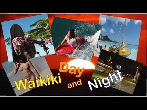 The Waikiki Walk Day and night.