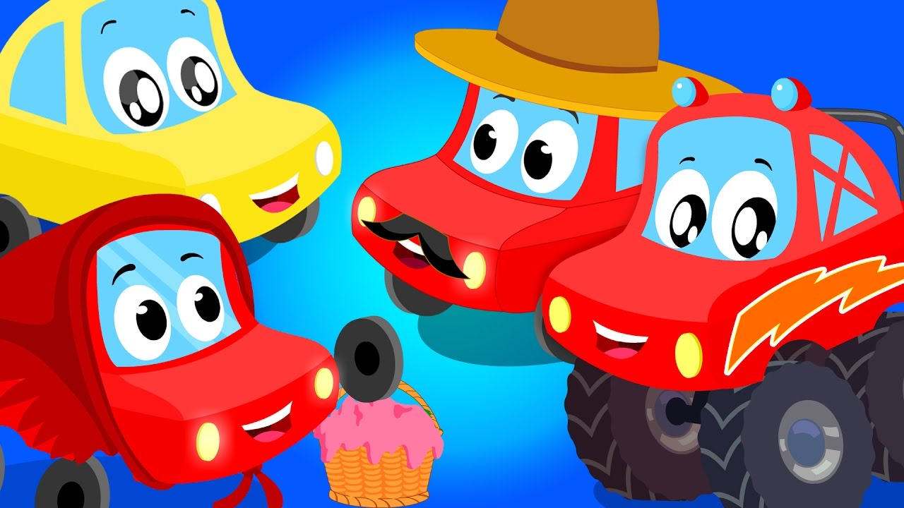 little red car vehicle songs for children nursery rhymes compialtion youtube