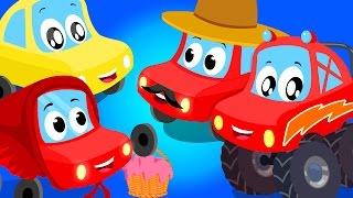 Kleine Rote Auto | Fahrzeug Lieder für Kinder | Kinderreime compialtion