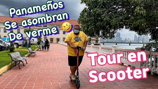 Casco viejo Panamá 🇵🇦 un obeso en Scooter tour.