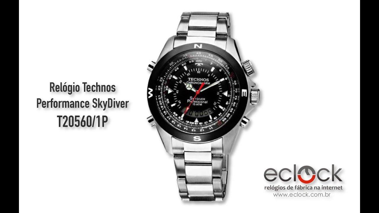 Relógio Technos Masculino Performance SkyDiver T20560 1P - Eclock ... 72e67e16e5