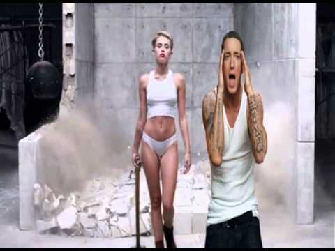 Miley Cyrus -Wrecking Ball  ft eminem