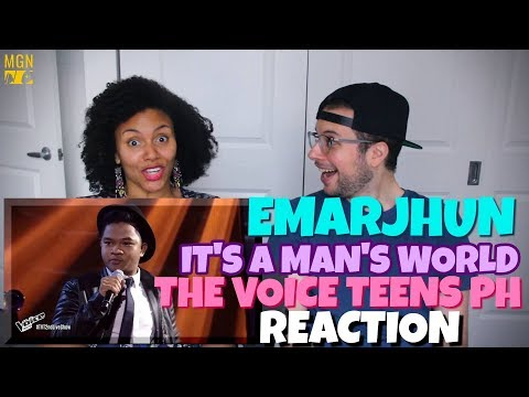 Emarjhun de Guzman - It's A Man's World | The Voice Teens Philippines Live Show | REACTION