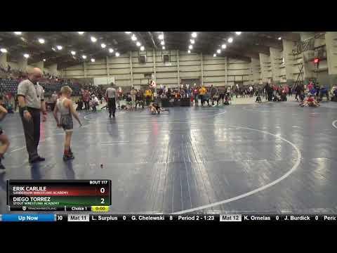 12U 74 Diego Torrez Stout Wrestling Academy Vs Erik Carlile Sanderson Wrestling Academy