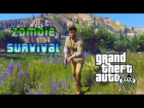 Supervivencia Zombie con Nathan drake en GTA 5