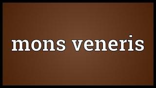 Mons veneris Meaning