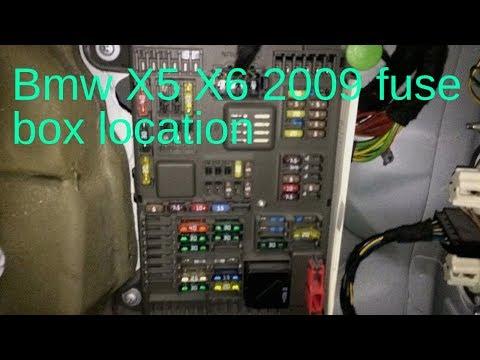 BMW X5 X6 2009 FUSE BOX LOCATION - YouTube X Fuse Box Location on