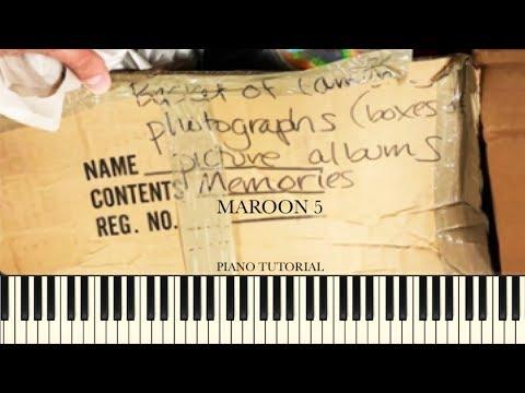 Maroon 5 Memories Piano Tutorial Sheets Youtube