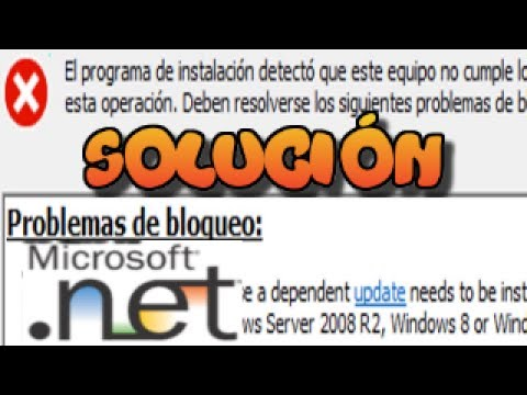 PROBLEMAS DE BLOQUEO error al instalar Net Fr…