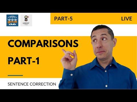 GMAT Sentence Correction #5 LIVE w/GMAT Ninja: Comparisons, Part I
