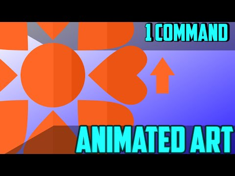 ❤ Animated Art Generator ❤ in One Command - Minecraft 1.9