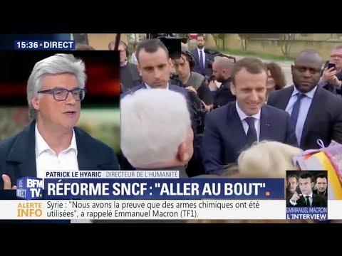 SNCF : Patrick Le Hyaric démonte les réponses de Macron à Berd'huis