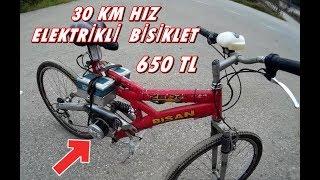 ELEKTRİKLİ bisiklet ile 30 km top speed