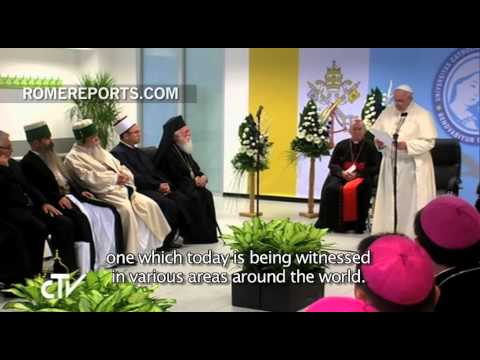 """Pope to Albanian religious leaders: """"Killing in God's name is a grave sacrilege"""""""