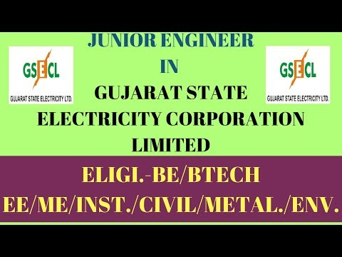 JUNIOR ENGINEER JOBS IN GUJARAT STATE ELECTRICITY CORPORATION LIMITED